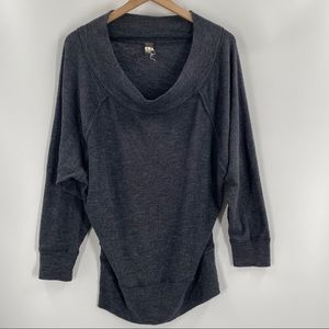 We the free- Grey Oversized Cowl Neck Sweater